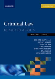 Cover for   Criminal Law in South Africa