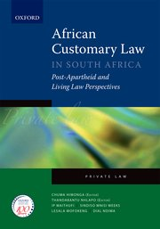 Cover for   African Customary Law in South Africa