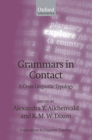 Cover for   Grammars in Contact