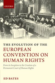 Cover for   The Evolution of the European Convention on Human Rights