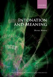 Cover for   Intonation and Meaning