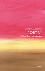 Cover For Poetry A Very Short Introduction