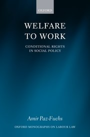 Cover for   Welfare to Work