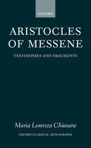 Cover for   Aristocles of Messene