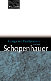 Cover for   Parerga and Paralipomena