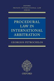 Cover for   Procedural Law in International Arbitration