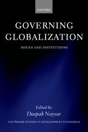 Cover for   Governing Globalization