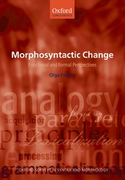 Cover for   Morphosyntactic Change