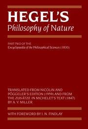 Hegel's Philosophy of Nature by Georg Wilhelm Friedrich Hegel