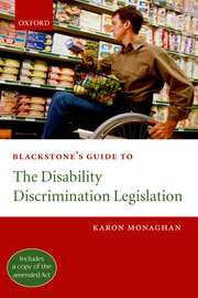 Cover for   Blackstones Guide to the Disability Discrimination Legislation