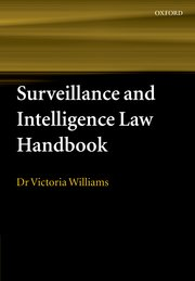 Cover for   Surveillance and Intelligence Law Handbook