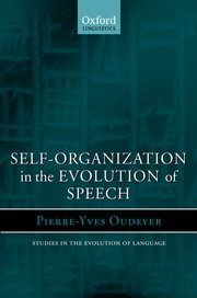 Cover for   Self-Organization in the Evolution of Speech