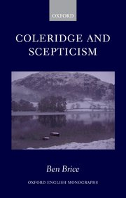 Cover for   Coleridge and Scepticism