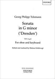 Cover for   Sonata in G minor (Dresden) TWV41:g10