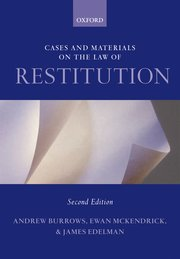 Cover for   Cases and Materials on the Law of Restitution