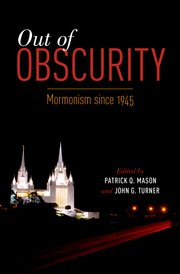 Cover for   Out of Obscurity
