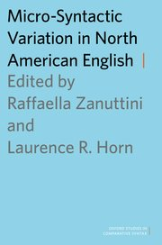 Cover for   Micro-Syntactic Variation in North American English