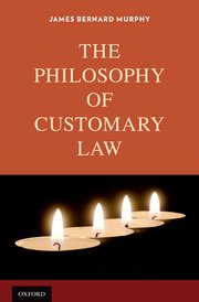 Cover for   The Philosophy of Customary Law