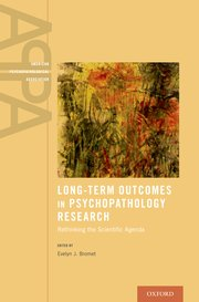 Cover for   Long-Term Outcomes in Psychopathology Research
