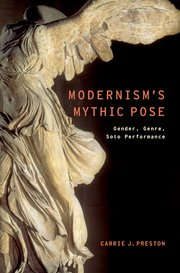 Cover for   Modernisms Mythic Pose