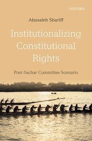 Cover for   Institutionalizing Constitutional Rights