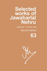 Cover for   SELECTED WORKS OF JAWAHARLAL NEHRU (1 SEP-31 OCT 1960)