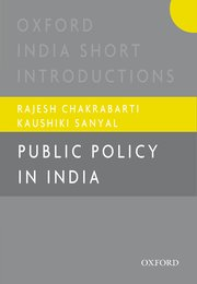 Cover for   Public Policy in India
