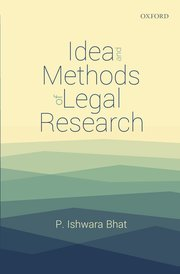 Cover for   Idea and Methods of Legal Research