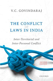 Cover for   The Conflict of Laws in India