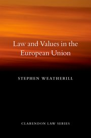 Cover for   Law and Values in the European Union