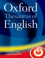 Cover for   Oxford Thesaurus of English