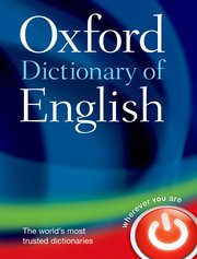 Cover for   Oxford Dictionary of English