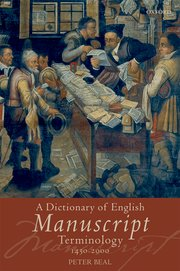 Cover for   A Dictionary of English Manuscript Terminology