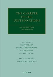 Cover for   The Charter of the United Nations