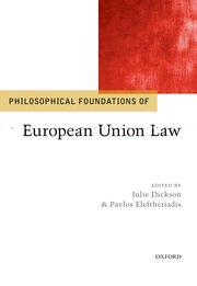 Cover for   Philosophical Foundations of European Union Law