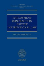 Cover for   Employment Contracts in Private International Law