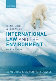 Cover for   Birnie, Boyle, and Redgwells International Law and the Environment