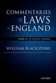 Cover for   The Oxford Edition of Blackstones