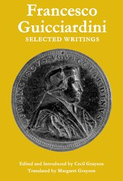 Cover for   Francesco Guicciardini: Selected Writings