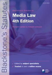 Cover for   Blackstones Statutes on Media Law