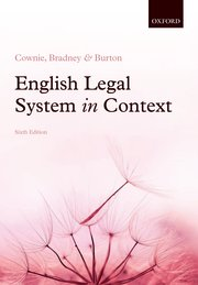 Cover for   English Legal System in Context 6e