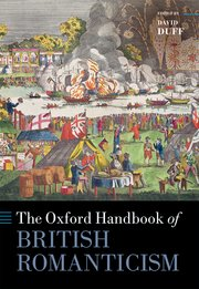 Cover for   The Oxford Handbook of British Romanticism