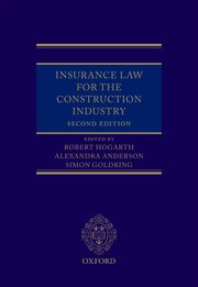 Cover for   Insurance Law for the Construction Industry