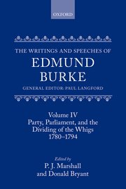 Cover for   The Writings and Speeches of Edmund Burke