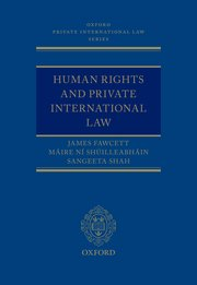 Cover for   Human Rights and Private International Law