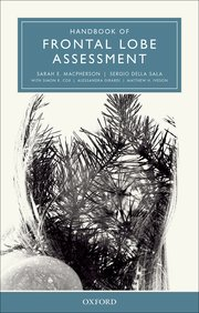 Cover for   Handbook of Frontal Lobe Assessment