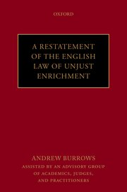 Cover for   A Restatement of the English Law of Unjust Enrichment