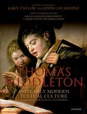 Cover for   Thomas Middleton and Early Modern Textual Culture