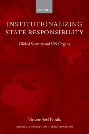 Cover for   Institutionalizing State Responsibility