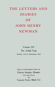 Cover for   The Letters and Diaries of John Henry Newman